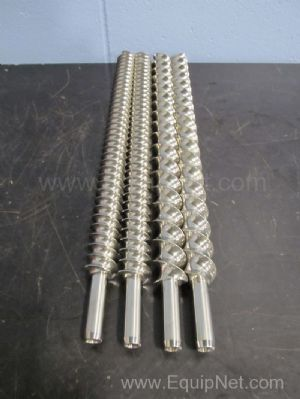 Lot of 2 Sets of Stainless Steel Twin Extruder Feed Screws