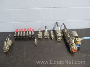 Lot of 19 Assorted Ball Valves