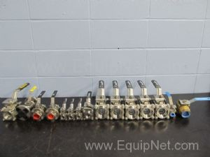 Lot of 15 Assorted Ball Valves