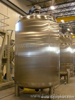 Unused Industries of D Acier 10,000 Liter Stainless Steel Mix Tank