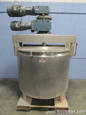 DCI 500 Gallon Stainless Steel Jacketed Double Motion Mixing Tank