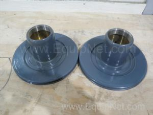 Lot of 2 unknown manufacturer Cone Valve Guide Flanges