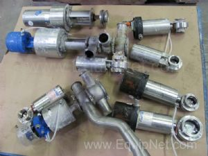 1 Lot of Miscellaneous  Pneumatic Bi Directional & Butterfly Valves