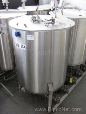 100 Gallon Stainless Steel Tank with Hinged Lid