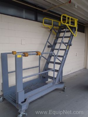 Portable Ladder with safety rails