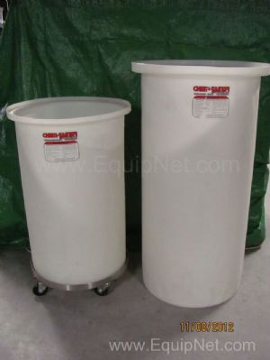 Lot of 2 Chem-Tainer Tubs with Dolly