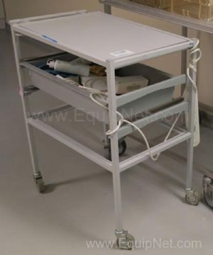 Grey Plastic Steel Frame Utilities Cart