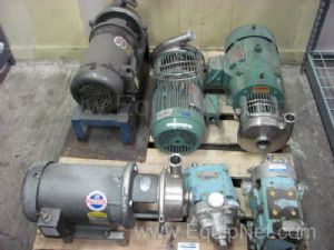 Pallet of Waukesha And Other Sanitary Assorted Pumps