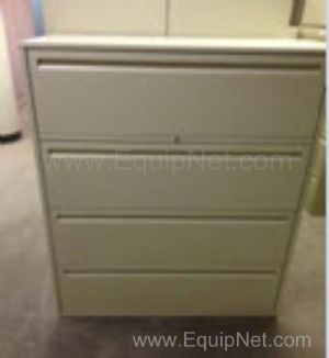 Lot of 5 Haworth 4 Drawer File Storage Cabinets Model LF-442-L