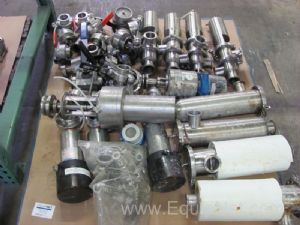 1 Lot of Miscellaneous Ball Valves, Actuator Valves and Small Stainless Steel Filter Housings