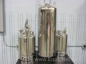 Lot of 3 Alloy Products Stainless Steel Vessel