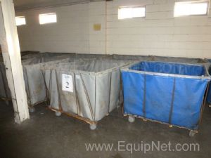 One Lot of 9+ Canvas Totes on Wheels,