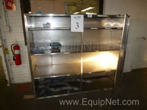 One (1) Stainless Steel Storage Cabinet with Shelves and Door