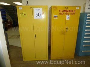 Contents of Two (2) Flammable Double Door Storage Cabinets,
