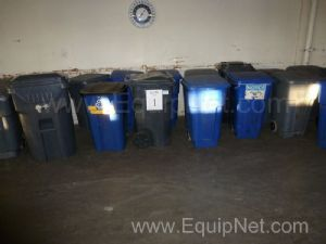 One Lot of 10+ Wheeled Trash Containers