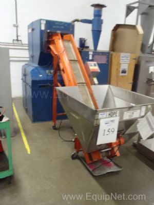 Foremost Scrap Grinder With Cyclone Blower And EMI Corp. Bottle Elevator