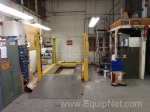 Fork Truck Repair Room Including 15000 LBS Fork Levator And Much MRO