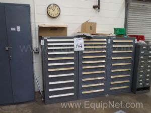 Lot of 3 Miscellaneous Parts Cabinets