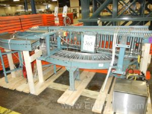 Approx. 50 Feet of Xenorol Motorized Case Conveyor with Misc. Turns