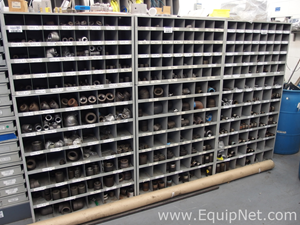 Three Shelving Units of Assorted Black Iron Fittings