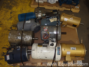 Lot of Approximately 9 Motors and a Centrifugal Pump