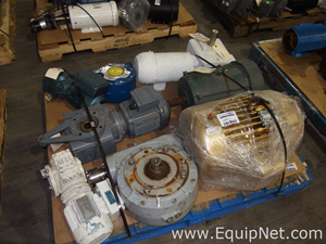 Pallet of Assorted Motors and Gearboxes