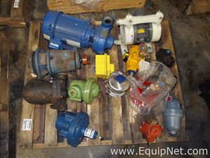 Lot Of 15 Various Pumps Flow Valves and Pressure Relief Valves
