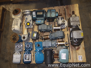 Lot Of 14 Eurodrive Used Motor Gearbox Combinations