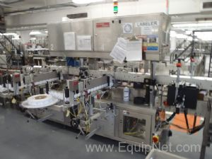 Avery XL4 Inline Front and Back labeler with Redundant label Heads