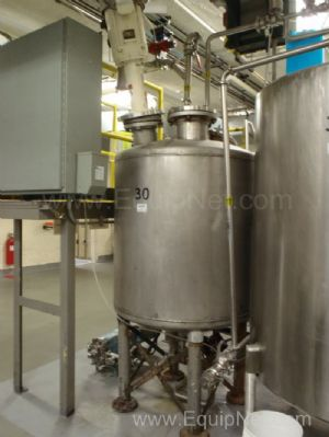 Stainless Steel Singlewall Tank Approximately 200 Gallon