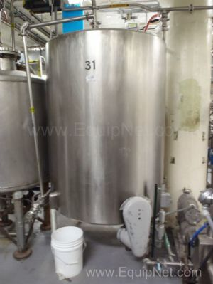 Stainless Steel Singlewall Tank Approximately 400 Gallon