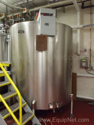 Will-Flow 1,000 Gallon Single Motion Jacketed Mixing Tank - 406
