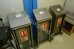 3 x stainless steel fire extinguisher cabinets