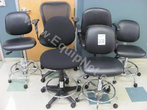 Lot of (7)Rolling Lab Chairs