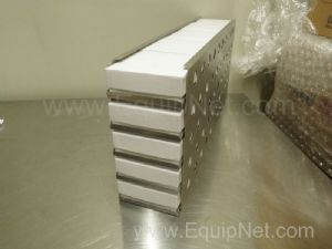 Lot of 14 Unused Thermo Sliding Drawer Racks with 25 Sample Boxes Each