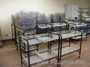 Lot of Laboratory Carts and Wire Baskets
