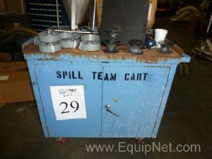 Spill Cart with Miscellaneous Material With Spill Pallet And Ropak Poly Container