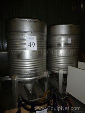 Lot of 2 200 Gallon Stainless Steel Tanks