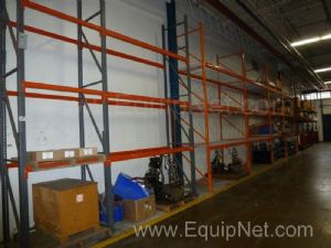 Lot of Approximately 100 Feet of Metal Warehouse Racking