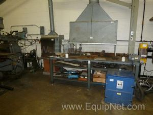 8' x 30'' Machine Shop Table and Miscellaneous Items