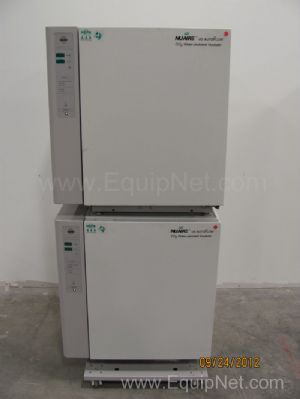 NuAire NU-4750 Double Stacked CO2 Water Jacketed Incubator