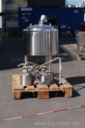 GEA Diessel 40 Litre 316L Stainless steel Jacketed Loadcell mounted Batch Weighing Pressure Vessel