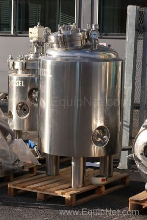 GEA Diessel 400 Litre Net Volume 316L Stainless steel Jacketed Pressure Vessel