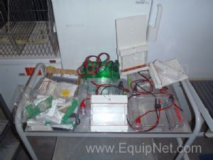 Box of Miscellaneous BioRad SUB CELL GT Agarose Gel Electrophoresis System Parts