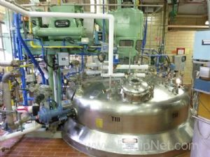 Alloy Fab Stainless Steel 9000 Gallon Fermentation Tank with Coils and Agitator