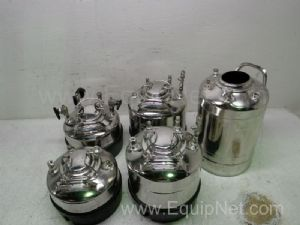 Lot of 6 Alloy Products Corp Stainless Steel Laboratory Vessels