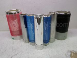Lot of 7 Assorted Glass Lined Vacuum Flasks