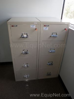 Lot of (2) FireKing Fireproof 4 Drawer Filing Cabinets