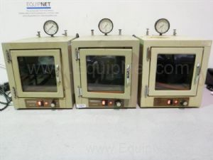 Lot of 3 National Appliance Co. 58313 Vacuum Ovens