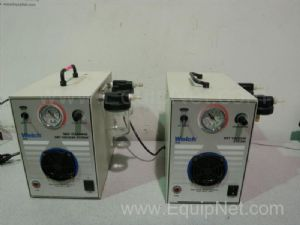 Lot of 2 Welch 2025 Self-Cleaning Dry Vacuum Pump Systems